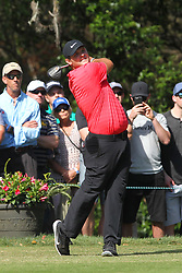 March 11, 2018 - Palm Harbor, FL, U.S. - PALM HARBOR, FL - MARCH 11: Patrick Reed tees off on the 11th hole during the final round of the Valspar Championship on March 11, 2018, at Westin Innisbrook-Copperhead Course in Palm Harbor, FL. (Photo by Cliff Welch/Icon Sportswire) (Credit Image: © Cliff Welch/Icon SMI via ZUMA Press)