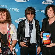 NLD/Amsterdam/20110823 - Presentatie Samsung Galaxy Tab, deel van de band Direct, oa Frans van Zoest