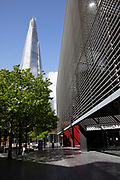 More London looking towards The Shard, which is normally bustling with tourists is eerily quiet and silent on empty streets as lockdown continues and people observe the stay at home message in the capital on 11th May 2020 in London, England, United Kingdom. Coronavirus or Covid-19 is a new respiratory illness that has not previously been seen in humans. While much or Europe has been placed into lockdown, the UK government has now announced a slight relaxation of the stringent rules as part of their long term strategy, and in particular social distancing.