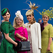 09.10.2016           <br /> Attend the Keanes Jewellers Best dressed competition at Limerick Racecourse were, Gillian Duggan, Renmore Co. Galway, Jean Browne, Tuam Co. Galway, Tasha O'Connor, Templeglantine CO. Limerick and Stacey O'Leary, Killarney Co. Kerry. Picture: Alan Place