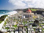 View of Cemeterio Santa Maria Magdalena de Pazzis from Bastion de Santa Rosa and looking towards the north side of Old San Juan/Viejo San Juan