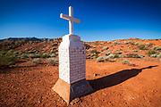 Civil War veteran John B. Clark memorial, Valley of Fire State Park, Nevada USA