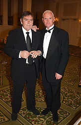 Footballer PAUL GASCOIGNE and his father JOHN GASCOIGNE at the 2005 British Book Awards held at The Grosvenor House Hotel, Park lane, London on 20th April 2005.<br /><br />NON EXCLUSIVE - WORLD RIGHTS