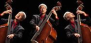 Montaggio di ritratti di Hide Tanaka, contrabbassista.  Montage of portraits of Hide Tanaka, double bass player.