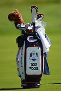 Illustration golf bag of Tiger Woods during the practice round of Ryder Cup 2018, at Golf National in Saint-Quentin-en-Yvelines, France, September 27, 2018 - Photo Philippe Millereau / KMSP / ProSportsImages / DPPI