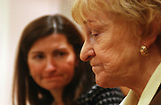 Bedside educator Brigid Higgins is seen talking about a student of hers who had passed away this past year as Assistant Principal Mary Oleksiak looks on at Memorial Sloan Kettering Cancer Center in Manhattan, NY. 12/14/2004 Photo by Jennifer S. Altman