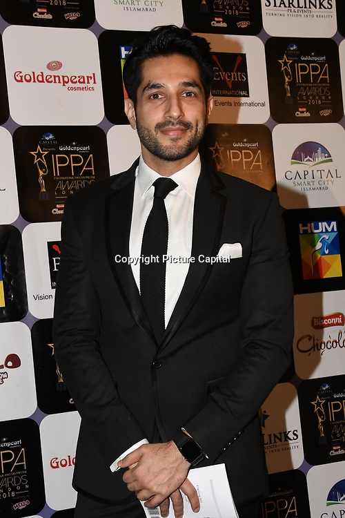 Ahsan Khan is a Pakistani actor arrives at the Annual International Pakistan Prestige Awards (IPPA) at Indigo at The O2 on 9th September 2018, London, UK.