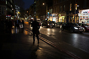 Night time street scene on Tooley Street near London Bridge inLondon, England, United Kingdom. (photo by Mike Kemp/In Pictures via Getty Images)