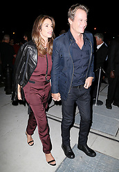 Celebrities arriving at Mert and Marcus party, Bella Hadid, Cindy Crawford and Adriana Lima. 07 Sep 2017 Pictured: Cindy Crawford, Rande Gerber. Photo credit: MEGA TheMegaAgency.com +1 888 505 6342