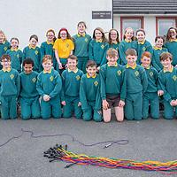 5th Class Gaelscoil Mhíchíl Cíosóg Ennis with teacher Enda Mac Gabhann