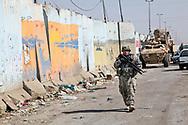 Louisiana National   Guard patrolling in Baghdad.