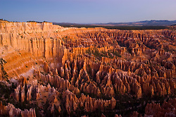 Bryce Canyon National Park, sunrise, Rock formations, hoodoos of Silent City in Ampitheater, erosion, arid, Utah, UT, Southwest America, American Southwest, US, United States, Image ut365-18197, Photo copyright: Lee Foster, www.fostertravel.com, lee@fostertravel.com, 510-549-2202