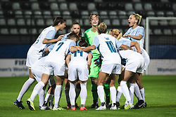 Slovenian national team before football match between Slovenia and France in 2nd round of Women's world cup 2023 Qualifying round on 21 of September, 2021 in Mestni stadion Fazanerija, Murska Sobota, Slovenia. Photo by Blaž Weindorfer / Sportida