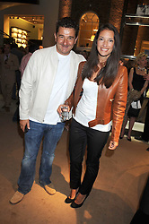 Gardener RACHEL DE THAME and her husband GERALD DE THAME at a party to celebrate the publication of Sashenka by Simon Sebag-Montefiore held at Asprey, Bond Street, London on 1st July 2008.<br /><br />NON EXCLUSIVE - WORLD RIGHTS