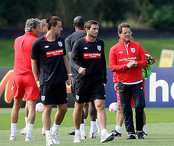 09.08.2010. Arsenal Training Ground, London, ENG, Nationalteam England Training, im Bild Fabio Capello with the Chelsea duo Frank Lampard and John Terry, EXPA Pictures © 2010, PhotoCredit: EXPA/ IPS/ Marcello Pozzetti *** ATTENTION ..*** UK AND FRANCE OUT! / SPORTIDA PHOTO AGENCY