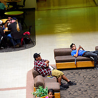 082213  Adron Gardner/Independent<br /> <br /> Gurley Hall offers some down time for students between classes at the University of New Mexico in Gallup Thursday.
