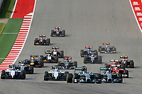 ROSBERG Nico (Ger) Mercedes Gp Mgp W05 action HAMILTON Lewis (Gbr) Mercedes Gp Mgp W05 action depart start   during the 2014 Formula One World Championship, United States of America Grand Prix from November 1st to 2nd 2014 in Austin, Texas, USA. Photo Frederic Le Floch / DPPI.