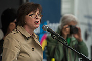 Frances O'Grady, TUC Gen Sec - A march against racism, organised by Stand Up to Racism and supporterd by the TUC and most major unions including Unison, Unite, The PCS and the NUT. It started in Portland place and ended up in Parlaiment Square, Westminster - London 18 Mar 2017.
