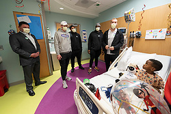 LSU visits Scottish Rite Hospital - Children's Healthcare of Atlanta, Monday, Dec. 23, 2019, in Atlanta. LSU will face Oklahoma in the 2019 College Football Playoff Semifinal at the Chick-fil-A Peach Bowl. (Paul Abell via Abell Images for the Chick-fil-A Peach Bowl)