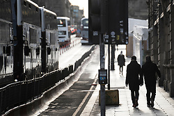 Edinburgh, Scotland, UK. 28 December 2020. Scenes from Edinburgh City Centre as Scotland starts first weekday under the most severe level 4 lockdown with all non-essential businesses closed. Iain Masterton/Alamy Live News