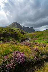 View of Beinn Fhada, part of Bidean Nam Bian also known as the Three Sisters of Glencoe, Highland Region, Scotland, UK