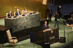 September 20, 2016 - New York, New York, United States - President Obama addressed the General Assembly today. (Credit Image: © Mark J Sullivan/Pacific Press via ZUMA Wire)
