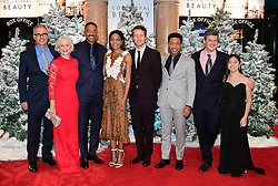 (left-right) David Frankel, Dame Helen Mirren, Will Smith, Naomie Harris, Edward Norton, Jacob Latimore, Anthony Bergman and Lily Hevesh attending the European premiere of Collateral Beauty, held at the Vue Leicester Square, London.