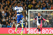 QPR defender Moses Odubajo (22) controls during the EFL Sky Bet Championship match between West Bromwich Albion and Queens Park Rangers at The Hawthorns, West Bromwich, England on 24 September 2021.