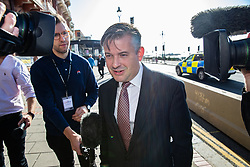 © Licensed to London News Pictures . 21/09/2019. Brighton, UK. JONATHAN ASHWORTH on the promenade ahead of the start of the 2019 Labour Party Conference from the Brighton Centre . Photo credit: Joel Goodman/LNP