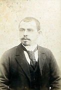 deteriorating studio portrait man late 1800s