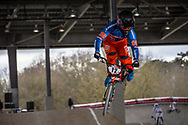 #12 (BENSINK Niels) NED at the 2018 UCI BMX Superscross World Cup in Saint-Quentin-En-Yvelines, France.
