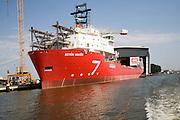 Seven Seas subsea 7 ship under repair IHC Merwede Offshore & Marine shipyard, Krimpen aan den IJssel, Rotterdam, Netherlands