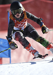 February 15, 2018 - Pyeongchang, South Korea - IEVA JANKUSKEVICIUTE of Lithuania on her first run at the Womens Giant Slalom event Thursday, February 15, 2018 at the Yongpyang Alpine Centerl at the Pyeongchang Winter Olympic Games.  Photo by Mark Reis, ZUMA Press/The Gazette (Credit Image: © Mark Reis via ZUMA Wire)