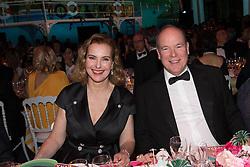 Carole Bouquet and Prince Albert II of Monaco attend the Rose Ball 2019 at Sporting in Monaco, Monaco. Photo by Palais Princier/Gaetan Luci/SBM/ABACAPRESS.COM