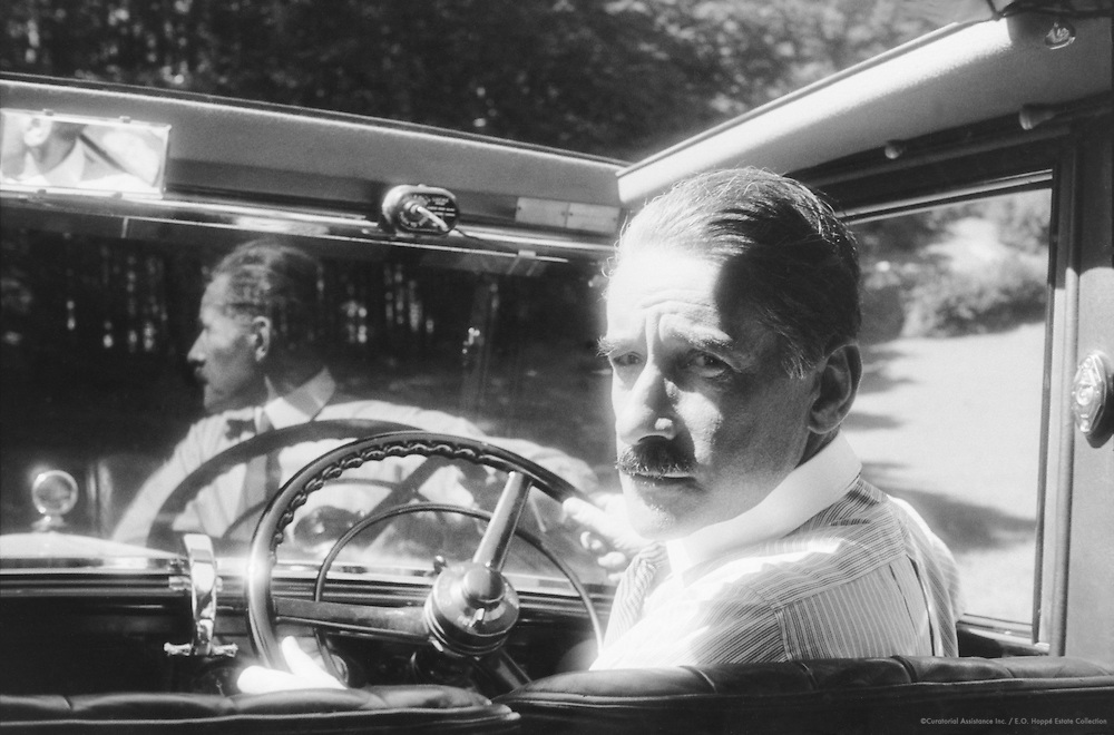 E.O. Hoppé Driving His Car in Southern Germany, 1933