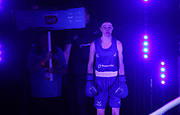 Charley-Sian Davison of Great Britain (bue) during The Road to Tokyo European Olympic Boxing Qualification, Sunday, March 15, 2020, in London, United Kingdom. (Mitchell Gunn-ESPA-Images/Image of Sport)
