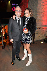 RAFFI & JO MANOUKIAN at a Night of Disco in aid of Save The Children held at The Roundhouse, Chalk Farm Road, London on 5th March 2015.