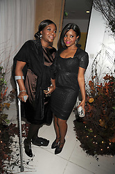 Left to right, BEVERLEY BUCHANAN and her daughter KEISHA BUCHANAN  from the Sugababes at a reception before the launch of the English National Ballet Christmas season launch of The Nutcracker held at the St,Martins Lane Hotel, London on 5th December 2008.