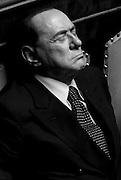 Sivlio Berlusconi in Senato durante le votazioni per la mozione di sfiducia al Ministro degli Interni Angelino Alfano<br /> Roma - 19 luglio 2013. Matteo Ciambelli / OneShot