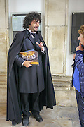 Portugal, University of Coimbra Professor with traditional academic attire including black cape