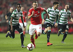 February 7, 2019 - Na - Lisbon, 06/02/2019 - SL Benfica received this evening the Sporting CP in the Stadium of Light, in game the account for the first leg of the Portuguese Cup 2018/19 semi final. Seferovic  (Credit Image: © Atlantico Press via ZUMA Wire)
