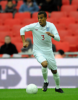 England U21/Portugal U21 European Under 21 Championship 14.11.09 <br /> Photo: Tim Parker Fotosports International<br /> Ryan Bertrand England Under 21's 2009/10