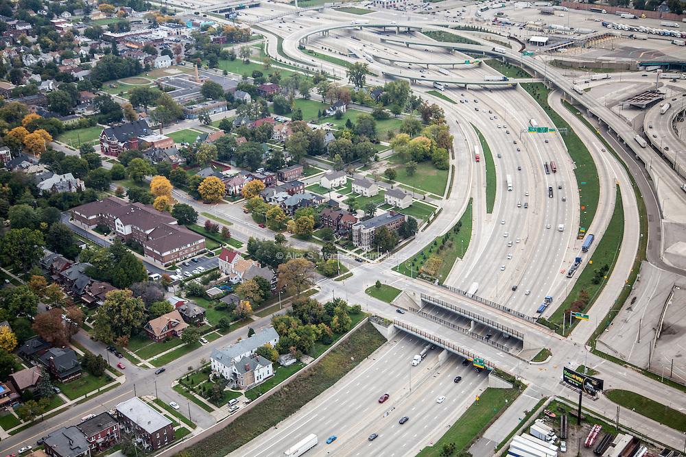 Fisher Freeway I-75 and interchange to Ambassador Bridge