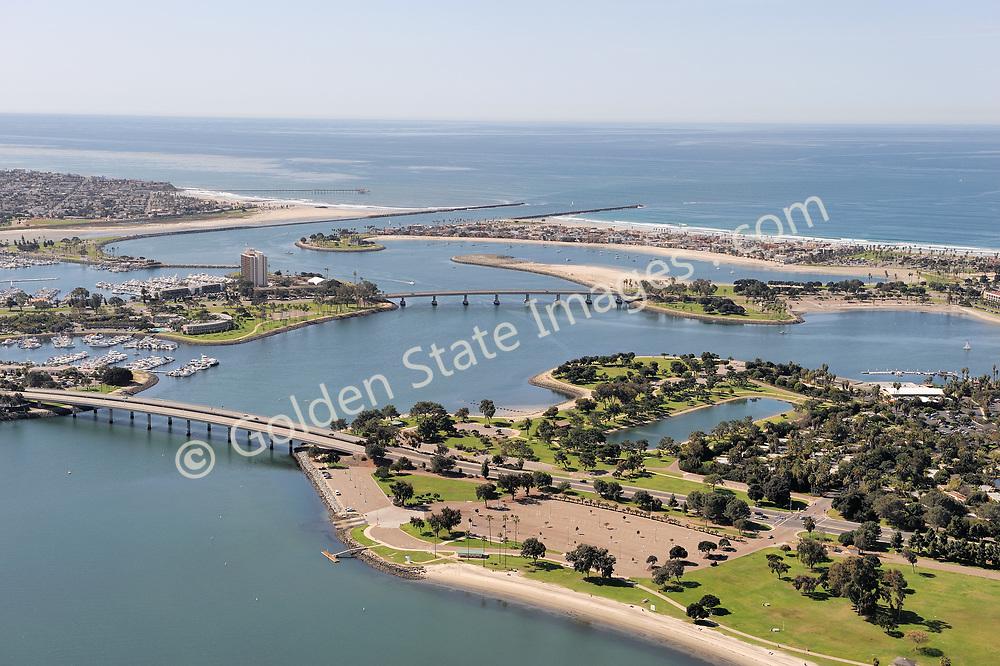 Aerial Photo of Ingraham and Glenn Rick Bridges.