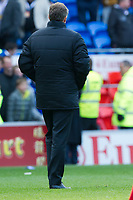 Football - 2013 / 2014 Premier League - Cardiff City vs. Chelsea<br /> <br />  Rear view of Cardiff manager Ole Gunnar Solskjaer as he leaves the pitch at the end of the last game of the season & they are relegated to the championship at Cardiff City Stadium.<br /> <br /> COLORSPORT/WINSTON BYNORTH