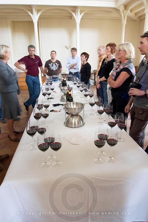 Wine tasting. Chateau Phelan-Segur, Saint Estephe, Medoc, Bordeaux, France
