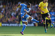 GOAL - Josh King of Bournemouth shoots to score his sides 2nd goal .Premier league match, Watford v AFC Bournemouth at Vicarage Road in Watford, London on Saturday 1st October 2016.<br /> pic by John Patrick Fletcher, Andrew Orchard sports photography.