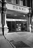1965 - Dunn's fish shop on Baggot Street, Dublin
