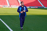 Wimbledon midfielder Andy Barcham (17) on the pitch  during the EFL Sky Bet League 1 match between Doncaster Rovers and AFC Wimbledon at the Keepmoat Stadium, Doncaster, England on 17 November 2018.