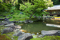 Engakuji is the main temple of the Engakuji section of the Rinzai Buddhist sect. The garden was restored in 1969 according to an old drawing. Zen Buddhism regarded gardens as microcosms of the natural landscape and this is a fine example.
